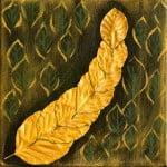 Herfst in Park Vreugd en Rust 4Acryl en natuur op doek(2015)Afmeting: 20x20 cm