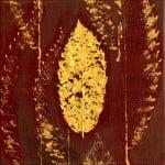 Herfst in Park Vreugd en Rust 1 Acryl en natuur op doek(2015)Afmeting: 20x20 cm