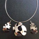 Zilveren sieradenset Droedels (doodling)