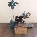 3 ruiters gepatineerd brons