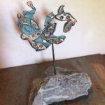 Ruiter, brons op Chinees speksteen