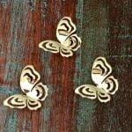 Hanger Vliegende vlinder 14k goud & zilver925,3x2cm, 2020